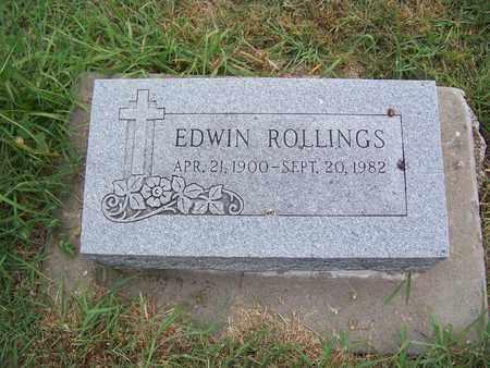 ROLLINGS, EDWIN - Butler County, Kansas | EDWIN ROLLINGS - Kansas Gravestone Photos