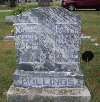 ROLLINGS, ELIAS WASHINGTON  (VETERAN UNION) - Butler County, Kansas   ELIAS WASHINGTON  (VETERAN UNION) ROLLINGS - Kansas Gravestone Photos