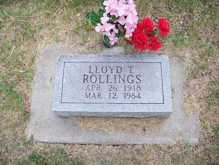 ROLLINGS, LLOYD THOMAS - Butler County, Kansas | LLOYD THOMAS ROLLINGS - Kansas Gravestone Photos