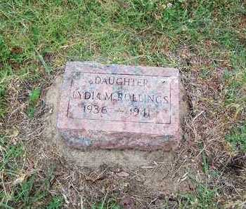 ROLLINGS, LYDIA MULVINA - Butler County, Kansas   LYDIA MULVINA ROLLINGS - Kansas Gravestone Photos