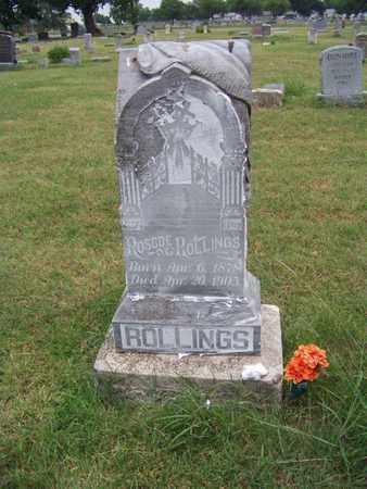 ROLLINGS, ROSCOE - Butler County, Kansas | ROSCOE ROLLINGS - Kansas Gravestone Photos