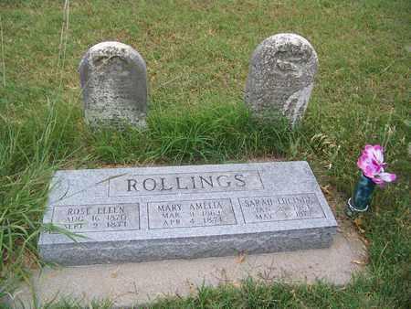 ROLLINGS, ROSE ELLEN - Butler County, Kansas | ROSE ELLEN ROLLINGS - Kansas Gravestone Photos