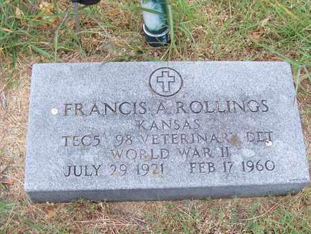 ROLLINGS, FRANCIS ALDEN   (VETERAN  WWII) - Butler County, Kansas   FRANCIS ALDEN   (VETERAN  WWII) ROLLINGS - Kansas Gravestone Photos