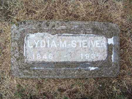 STEIVER, LYDIA M - Butler County, Kansas   LYDIA M STEIVER - Kansas Gravestone Photos
