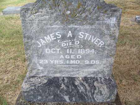 STIVER, JAMES A - Butler County, Kansas | JAMES A STIVER - Kansas Gravestone Photos