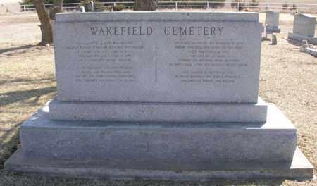 *WAKEFIELD CEMETERY SIGN,  - Butler County, Kansas |  *WAKEFIELD CEMETERY SIGN - Kansas Gravestone Photos