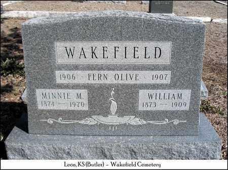 WAKEFIELD, MINNIE M - Butler County, Kansas | MINNIE M WAKEFIELD - Kansas Gravestone Photos