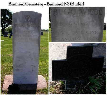 WIEBE, HUGO  (VETERAN SAW) - Butler County, Kansas | HUGO  (VETERAN SAW) WIEBE - Kansas Gravestone Photos