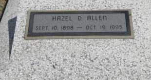 ALLEN, HAZEL D - Chautauqua County, Kansas | HAZEL D ALLEN - Kansas Gravestone Photos