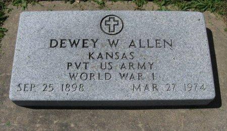 ALLEN, DEWEY WORTH (VETERAN WWI) - Chautauqua County, Kansas   DEWEY WORTH (VETERAN WWI) ALLEN - Kansas Gravestone Photos