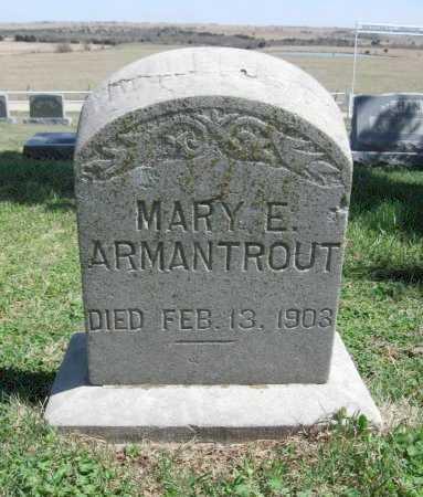 ARMANTROUT, MARY E - Chautauqua County, Kansas   MARY E ARMANTROUT - Kansas Gravestone Photos
