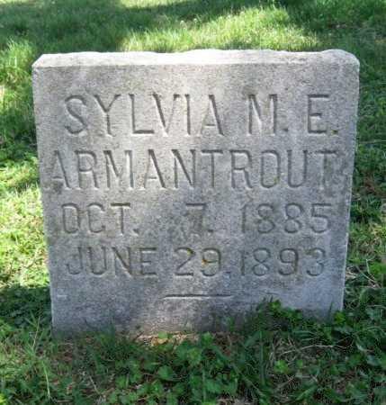 ARMANTROUT, SYLVIA M E - Chautauqua County, Kansas   SYLVIA M E ARMANTROUT - Kansas Gravestone Photos