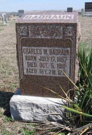 BADRAUN, CHARLES W - Chautauqua County, Kansas | CHARLES W BADRAUN - Kansas Gravestone Photos