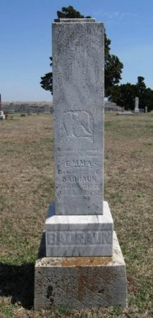 BADRAUN, EMMA - Chautauqua County, Kansas | EMMA BADRAUN - Kansas Gravestone Photos