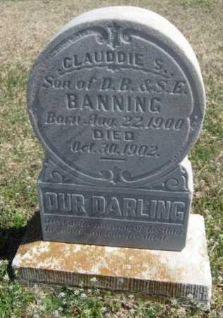 BANNING, CLAUDDIE S - Chautauqua County, Kansas | CLAUDDIE S BANNING - Kansas Gravestone Photos