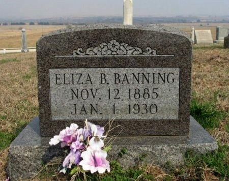 LYNCH BANNING, ELIZABETH BLANCH - Chautauqua County, Kansas   ELIZABETH BLANCH LYNCH BANNING - Kansas Gravestone Photos