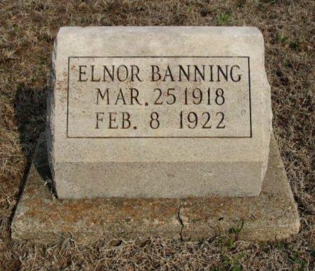 BANNING, ELNOR - Chautauqua County, Kansas | ELNOR BANNING - Kansas Gravestone Photos