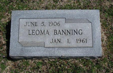 "BANNING, GEORGIA ""LEOMA"" - Chautauqua County, Kansas   GEORGIA ""LEOMA"" BANNING - Kansas Gravestone Photos"