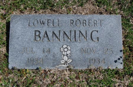 BANNING, LOWELL ROBERT - Chautauqua County, Kansas | LOWELL ROBERT BANNING - Kansas Gravestone Photos