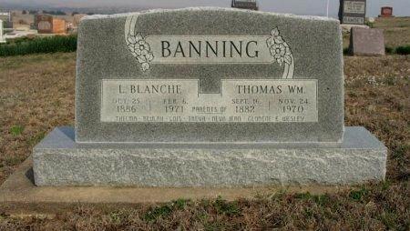 BANNING, LETTIE BLANCHE - Chautauqua County, Kansas | LETTIE BLANCHE BANNING - Kansas Gravestone Photos