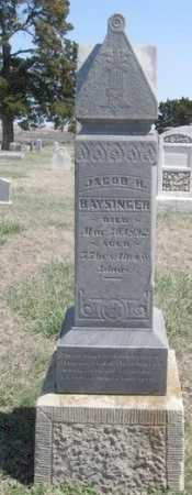 BAYSINGER, JACOB HARRISON (VETERAN UNION) - Chautauqua County, Kansas   JACOB HARRISON (VETERAN UNION) BAYSINGER - Kansas Gravestone Photos