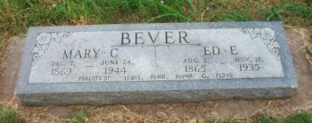 BEVER, ED E - Chautauqua County, Kansas   ED E BEVER - Kansas Gravestone Photos