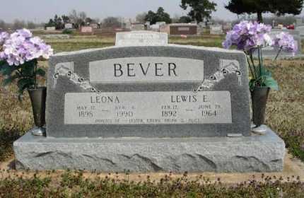 BEVER, LEWIS EDGAR (VETERAN 2 WARS - Chautauqua County, Kansas | LEWIS EDGAR (VETERAN 2 WARS BEVER - Kansas Gravestone Photos