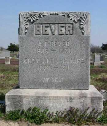 BEVER, CHARLOTTE - Chautauqua County, Kansas | CHARLOTTE BEVER - Kansas Gravestone Photos