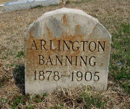 BANNING, ALBERT ARLINGTON - Chautauqua County, Kansas | ALBERT ARLINGTON BANNING - Kansas Gravestone Photos