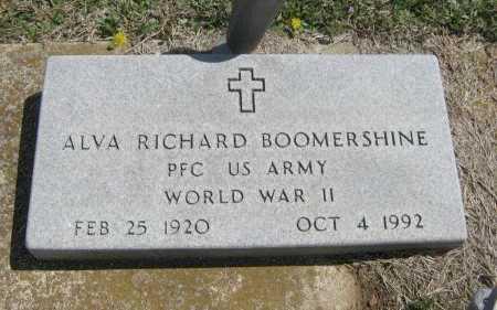 BOMMERSHINE, ALVA RICHARD  (VETERAN WWII) - Chautauqua County, Kansas | ALVA RICHARD  (VETERAN WWII) BOMMERSHINE - Kansas Gravestone Photos