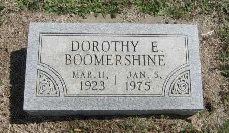 BOOMERSHINE, DOROTHY E - Chautauqua County, Kansas   DOROTHY E BOOMERSHINE - Kansas Gravestone Photos