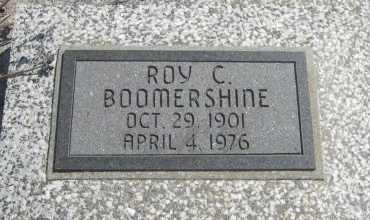 BOOMERSHINE, RIOY CLEMENT - Chautauqua County, Kansas | RIOY CLEMENT BOOMERSHINE - Kansas Gravestone Photos
