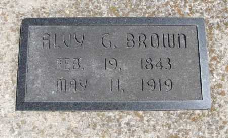 BROWN, ALVY G - Chautauqua County, Kansas   ALVY G BROWN - Kansas Gravestone Photos