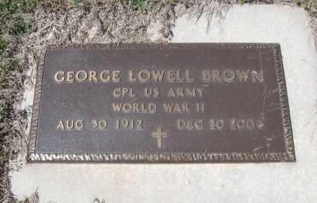 BROWN, GEORGE LOWELL (VETERAN WWII) - Chautauqua County, Kansas | GEORGE LOWELL (VETERAN WWII) BROWN - Kansas Gravestone Photos
