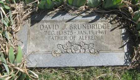 BRUNDRIDGE, DAVID J - Chautauqua County, Kansas | DAVID J BRUNDRIDGE - Kansas Gravestone Photos