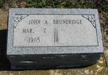 BRUNDRIDGE, JOHN A - Chautauqua County, Kansas   JOHN A BRUNDRIDGE - Kansas Gravestone Photos