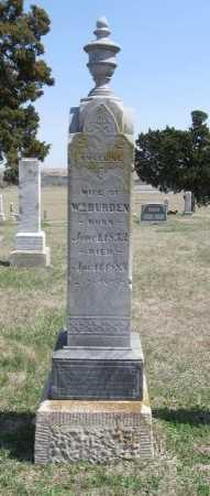 BURDEN, ANGELINE - Chautauqua County, Kansas | ANGELINE BURDEN - Kansas Gravestone Photos