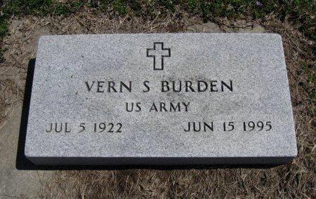 BURDEN, VERN S  (VETERAN WWII) - Chautauqua County, Kansas   VERN S  (VETERAN WWII) BURDEN - Kansas Gravestone Photos