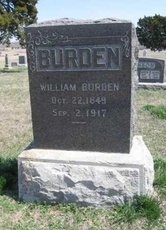BURDEN, WILLIAM - Chautauqua County, Kansas | WILLIAM BURDEN - Kansas Gravestone Photos