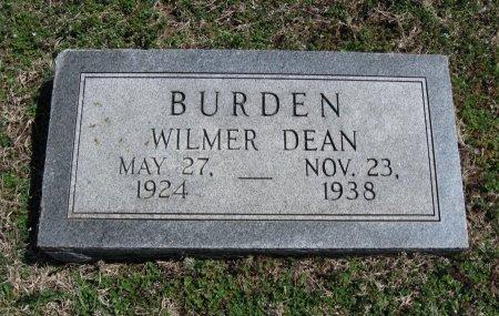 BURDEN, WILMER DEAN - Chautauqua County, Kansas   WILMER DEAN BURDEN - Kansas Gravestone Photos