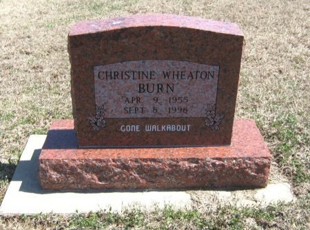 WHEATON BURN, CHRISTINE - Chautauqua County, Kansas   CHRISTINE WHEATON BURN - Kansas Gravestone Photos