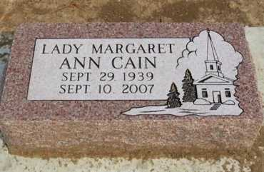 CAIN, LADY MARGARET ANN - Chautauqua County, Kansas | LADY MARGARET ANN CAIN - Kansas Gravestone Photos