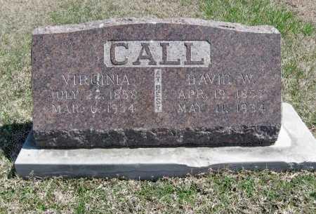 CALL, DAVID WILSON - Chautauqua County, Kansas | DAVID WILSON CALL - Kansas Gravestone Photos