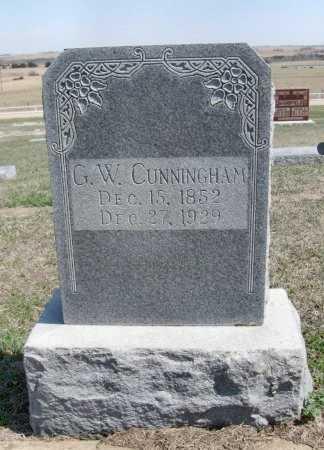 CUNNINGHAM, G W - Chautauqua County, Kansas | G W CUNNINGHAM - Kansas Gravestone Photos