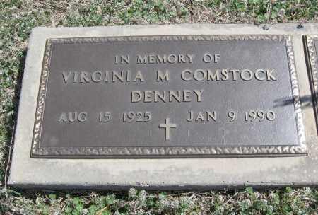 COMSTOCK DENNEY, VIRGINIA MARGARETTE - Chautauqua County, Kansas | VIRGINIA MARGARETTE COMSTOCK DENNEY - Kansas Gravestone Photos