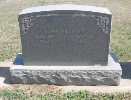 ELLIOTT, ALTA C - Chautauqua County, Kansas | ALTA C ELLIOTT - Kansas Gravestone Photos