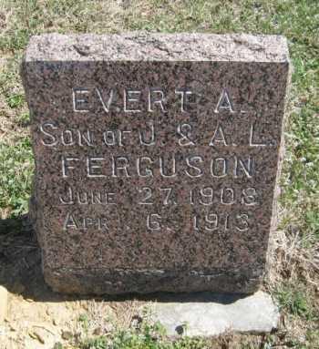 FERGUSON, EVERT A - Chautauqua County, Kansas | EVERT A FERGUSON - Kansas Gravestone Photos