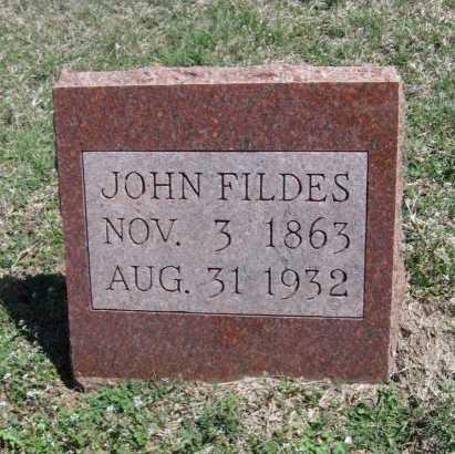 FILDES, JOHN - Chautauqua County, Kansas | JOHN FILDES - Kansas Gravestone Photos