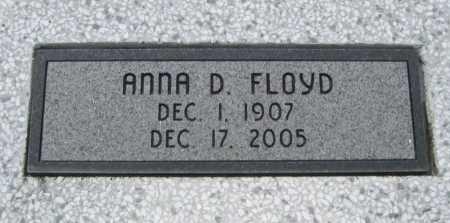 FLOYD, ANNA D - Chautauqua County, Kansas | ANNA D FLOYD - Kansas Gravestone Photos