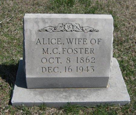 FOSTER, ALICE - Chautauqua County, Kansas   ALICE FOSTER - Kansas Gravestone Photos